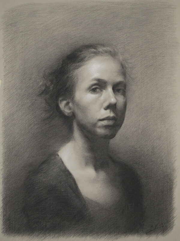 Stephanie Kullberg, Portrait drawing (7th trimester)