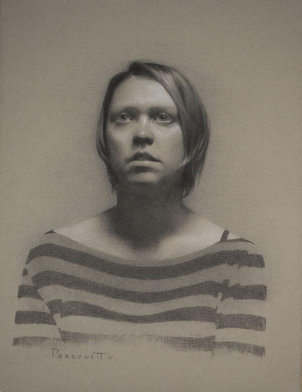 Rachel Personett, Portrait drawing (7th trimester)
