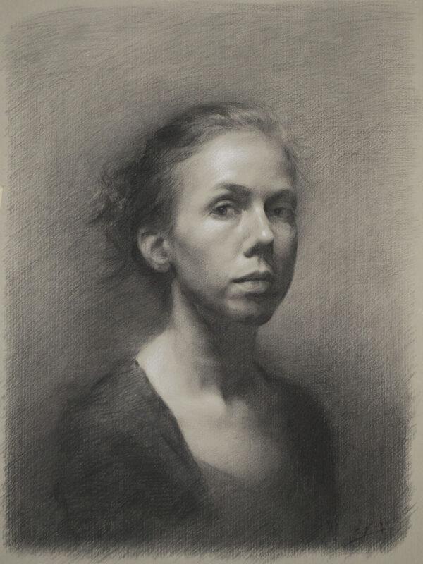 Stephanie Kullberg, Portrait drawing (7th trimester)